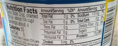 Chunk light Yellofin tuna - Informations nutritionnelles
