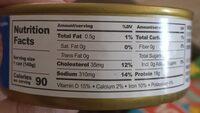 Chunk light tuna - Valori nutrizionali - en