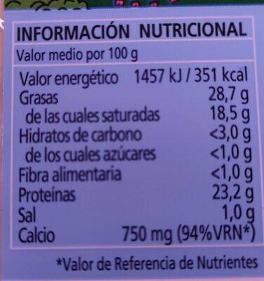 Queso de mezcla tierno - Valori nutrizionali - es