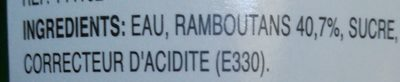 Ramboutan Sirop Aroy-d - Ingrédients - fr
