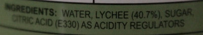 Lychee au sirop - Ingredients