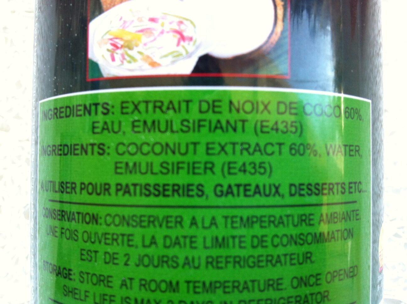 Lait de coco - Ingrediënten - fr