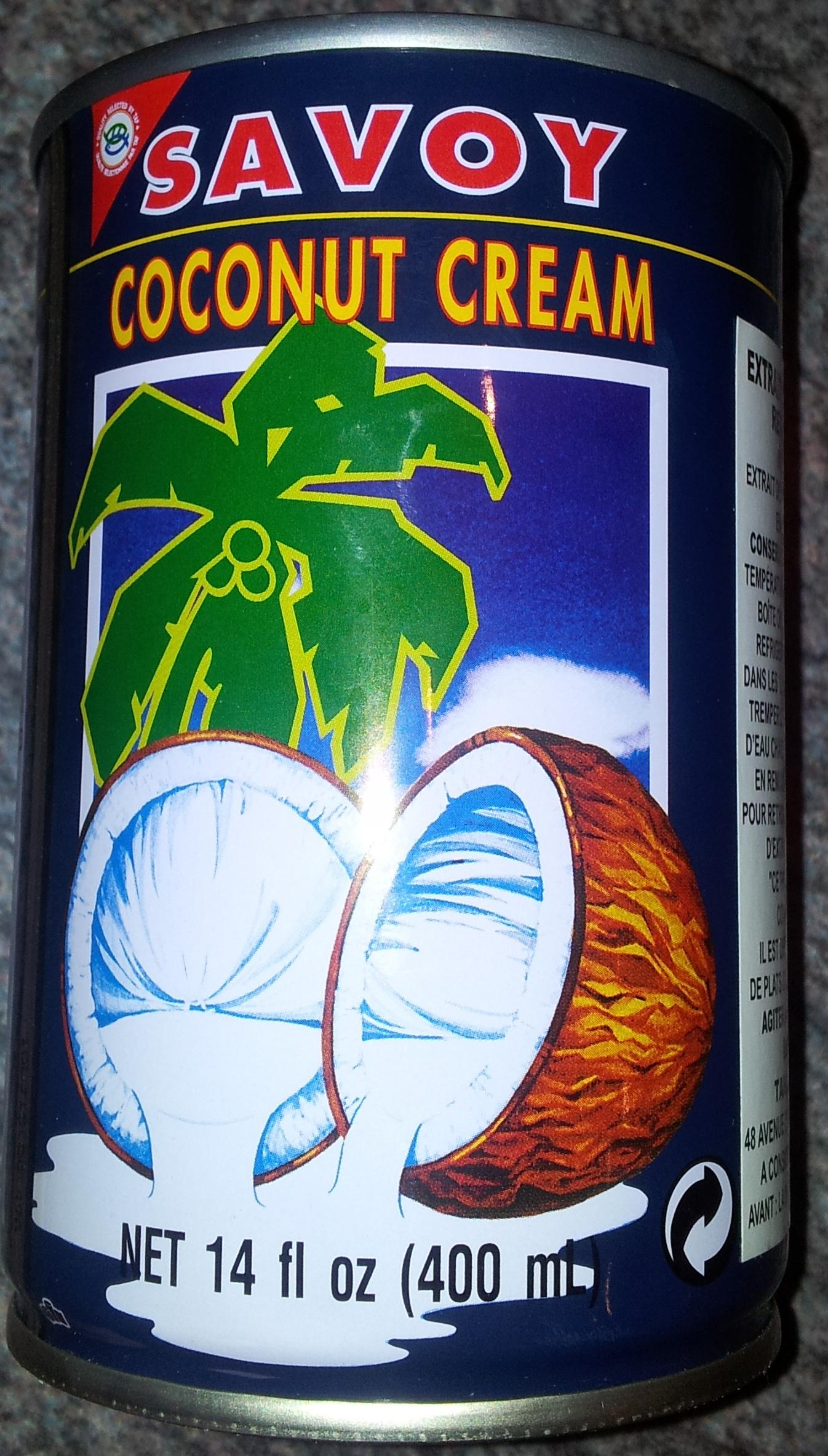 Savoy, coconut cream - Product