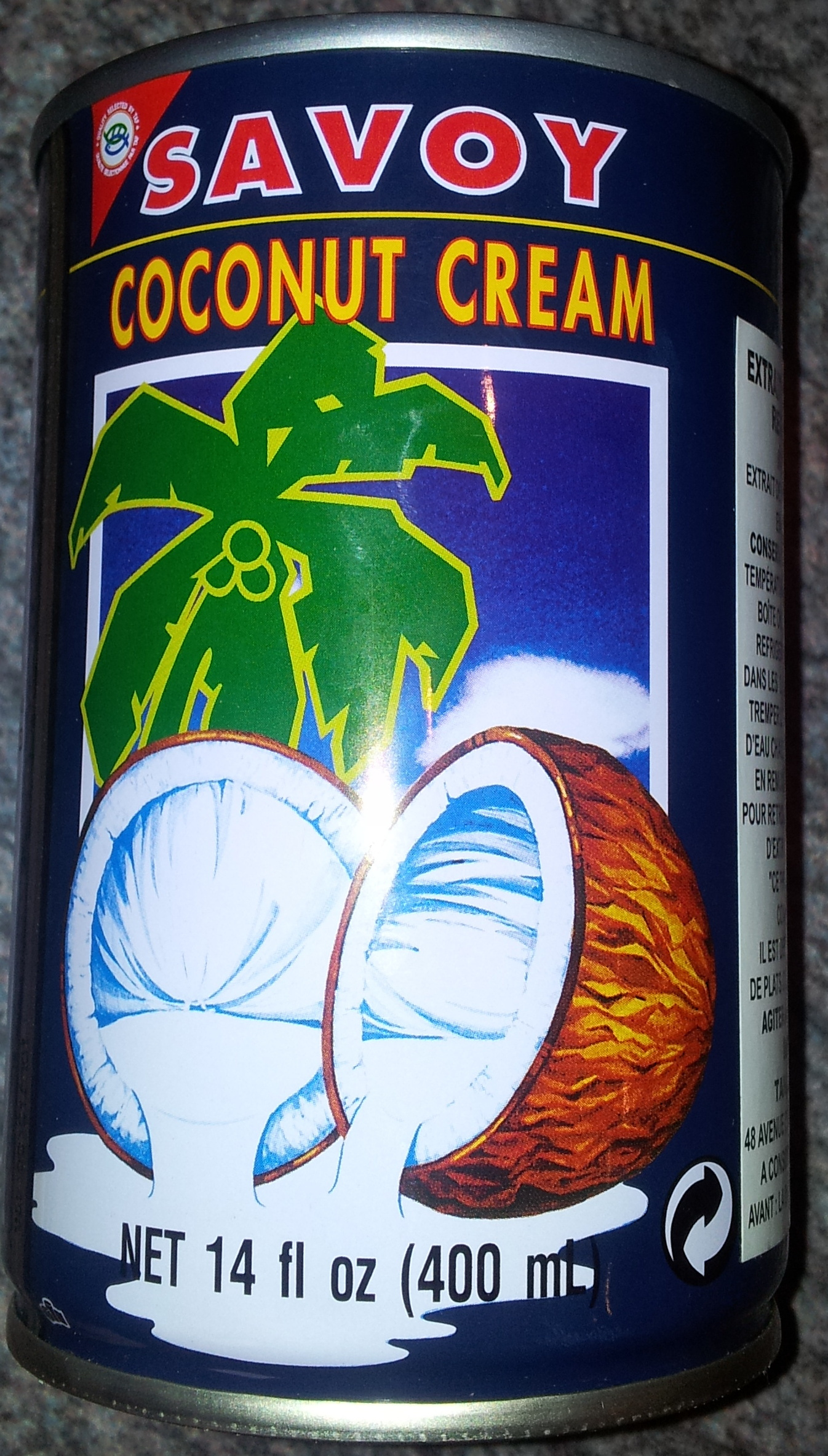 Savoy, coconut cream - Produit - fr