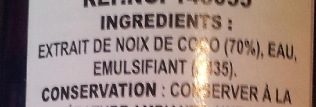 Savoy, coconut cream - Ingredients