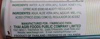 Aloe vera drink with honey - Ingredients - en