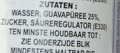 Guava drink - Ingredients