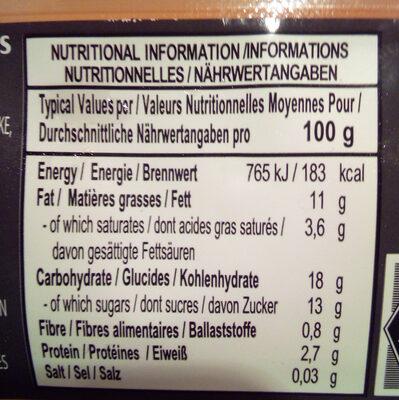 Boulettes de riz gluant au sésame congelées - Nutrition facts