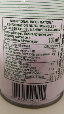 Coconut Juice - Nutrition facts - en