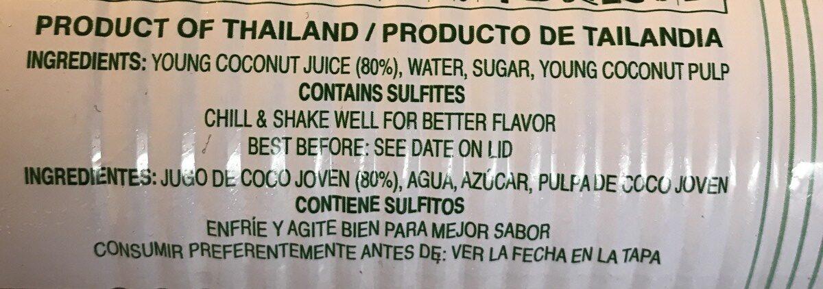 Foco, coconut juice - Ingrédients - fr