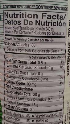 Foco, coconut juice - Informations nutritionnelles - fr