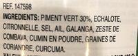 Green curry paste - Ingrédients - fr