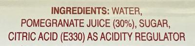 Pomegranate nectar - Ingredients