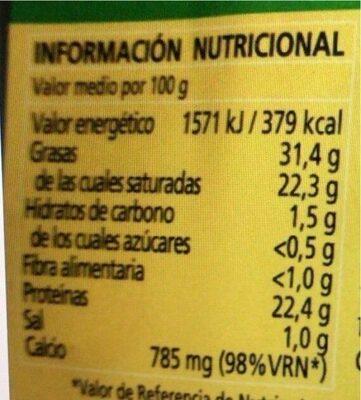Queso Madurado de Cabra - Valori nutrizionali - es