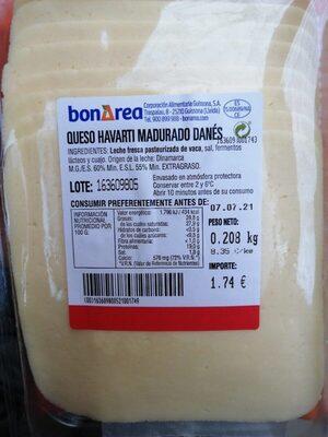 Queso Havarti Madurado Danés - Prodotto - es