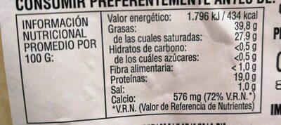 Queso Havarti Madurado Danés - Valori nutrizionali - es