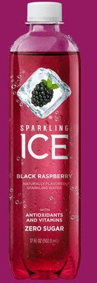 Black raspberry naturally flavoured sparkling water - Produit