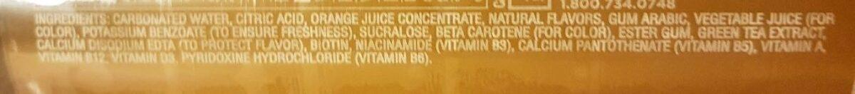 Orange mango - Ingrédients