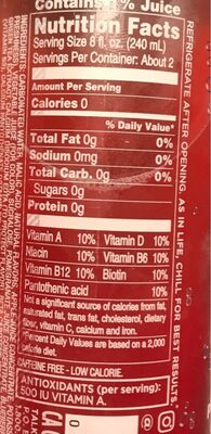 Sparkling Ice PomeGranate Bluberry - Nutrition facts