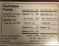 Curry Tiger - Nutrition facts