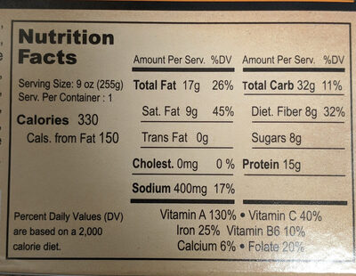 Curry Tiger - Nutrition facts - en
