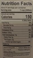 Whole Milk Ryazhenka Baked Cultured Milk - Nutrition facts