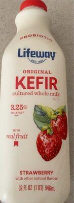 Strawberry original kefir cultured whole milk - Nutrition facts - en
