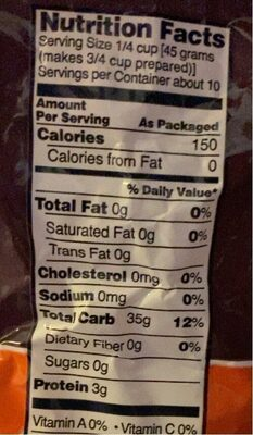 Rice - Nutrition facts - en