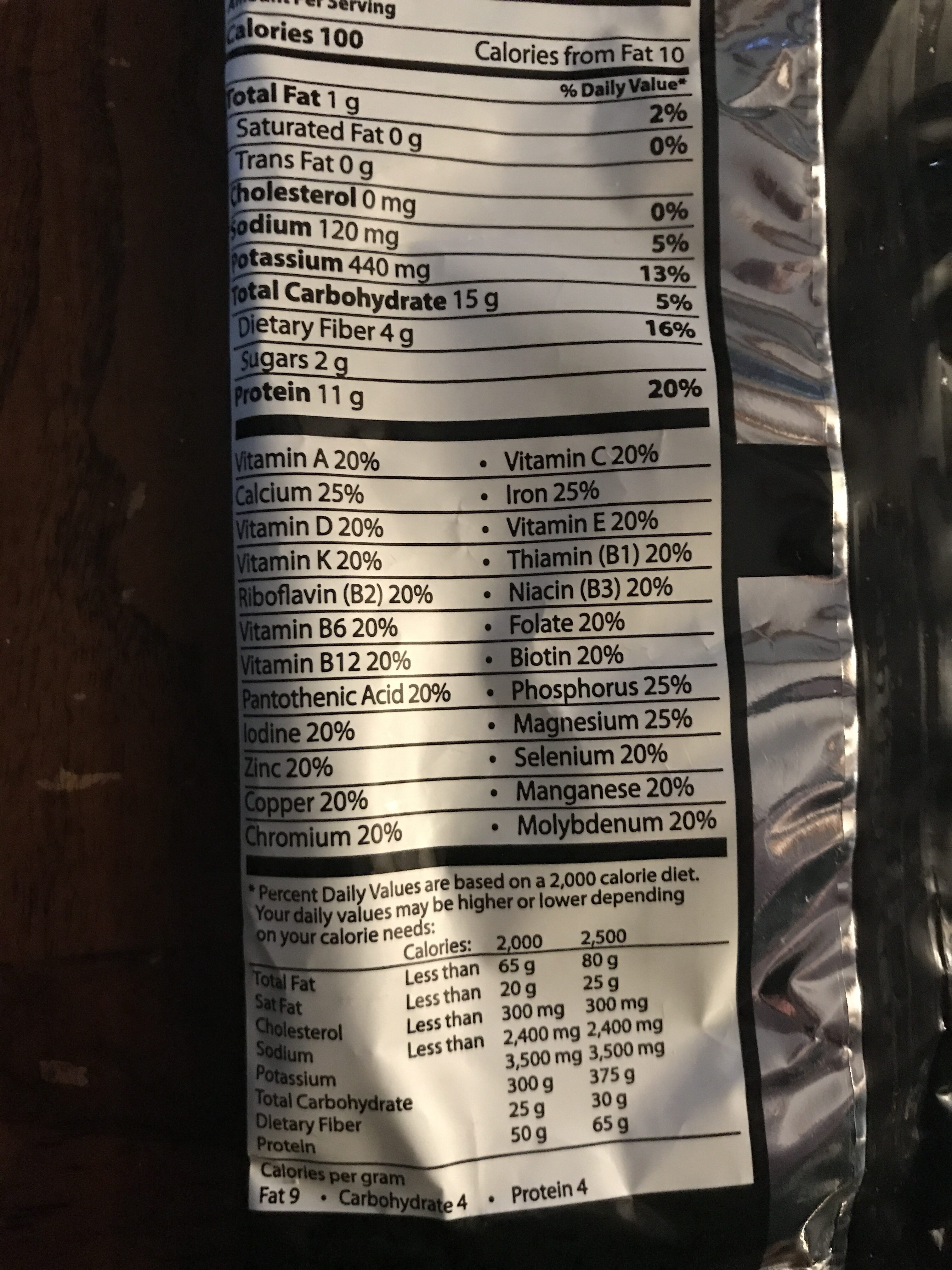 Mixed Berry Cereal Crunch - Nutrition facts