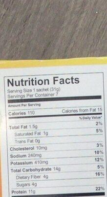 Golden Chocolate Chip Pancakes - Nutrition facts - en
