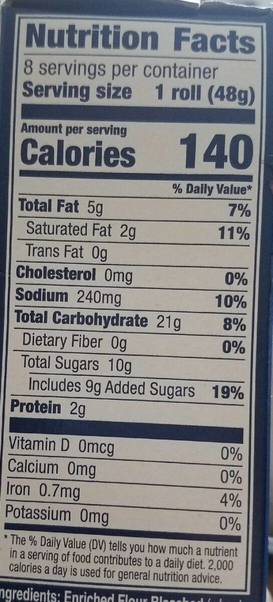 Filled crescents - Nutrition facts - en