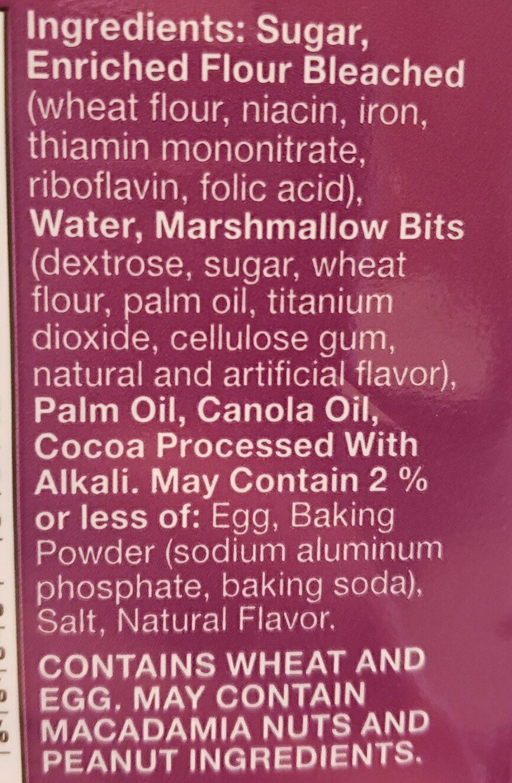 Pillsbury Place & Bake Marshmallow Brownies 12 Count - Ingredients - en