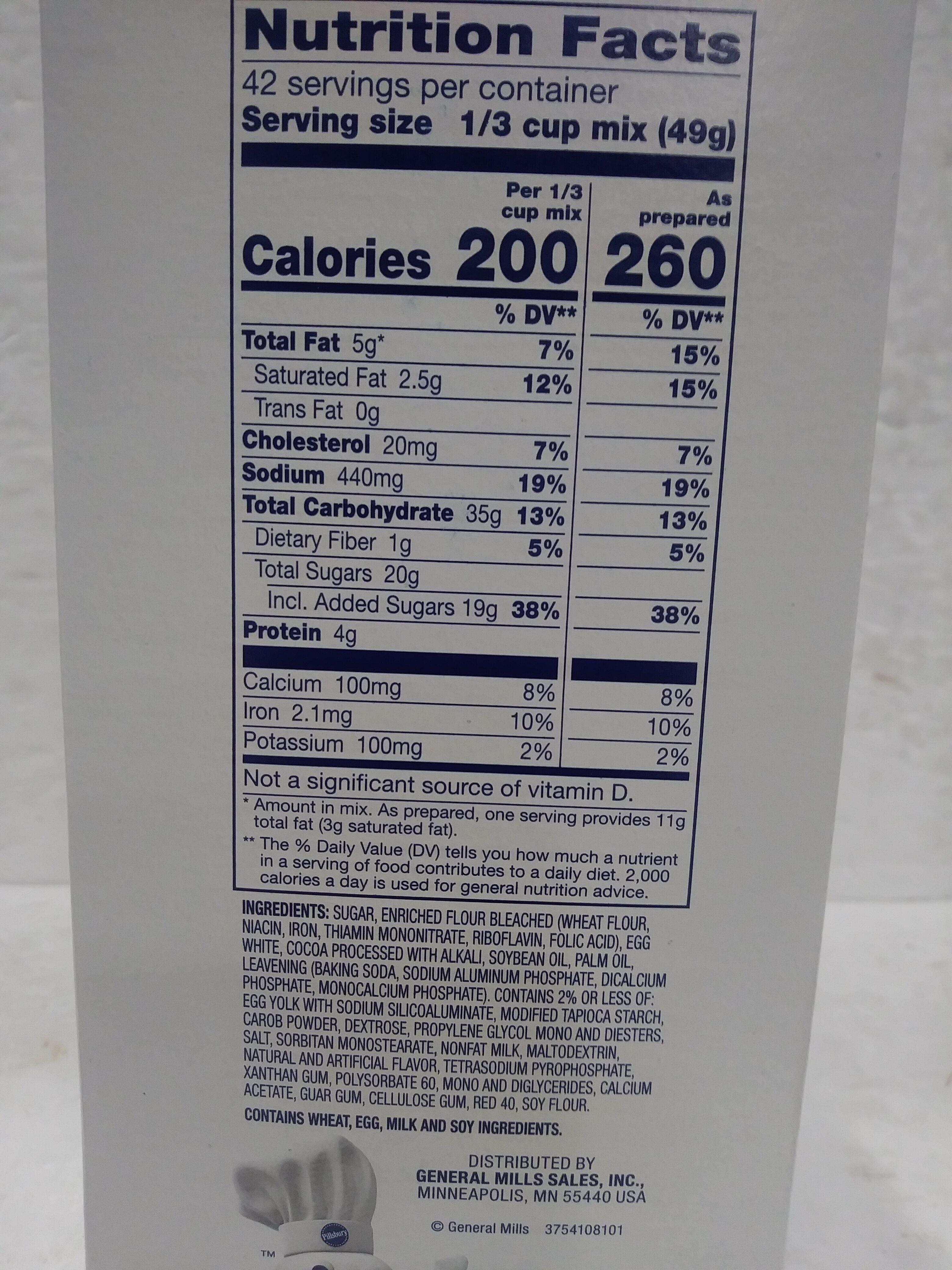 Bakers Plus Devil's Food Cake Mix - Ingrédients - en