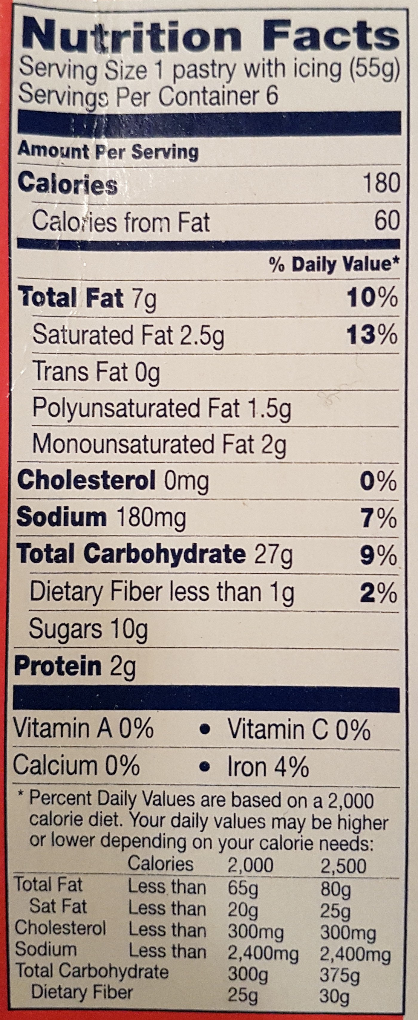 Toaster Strudel, Pastries, Strawberry - Nutrition facts
