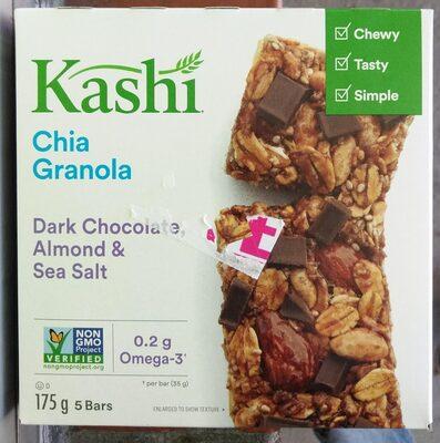 Barres granola au chia chocolat noir, amandes et sel de mer - Product