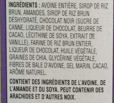 Kashi Barre Chocolat Amande - Ingrediënten - fr