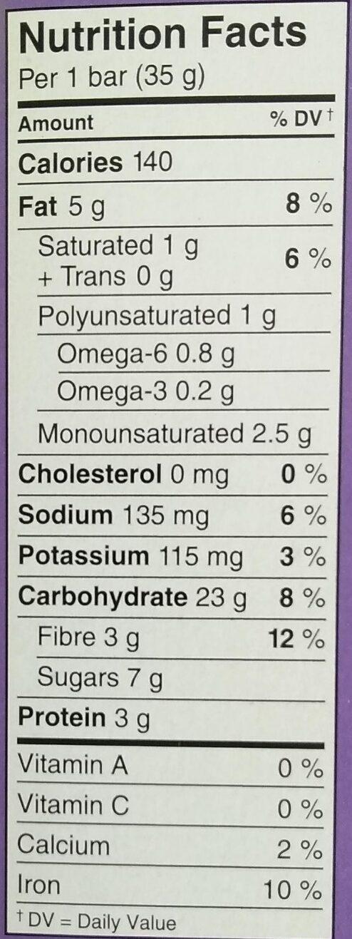 Kashi Barre Chocolat Amande - Nutrition facts - en