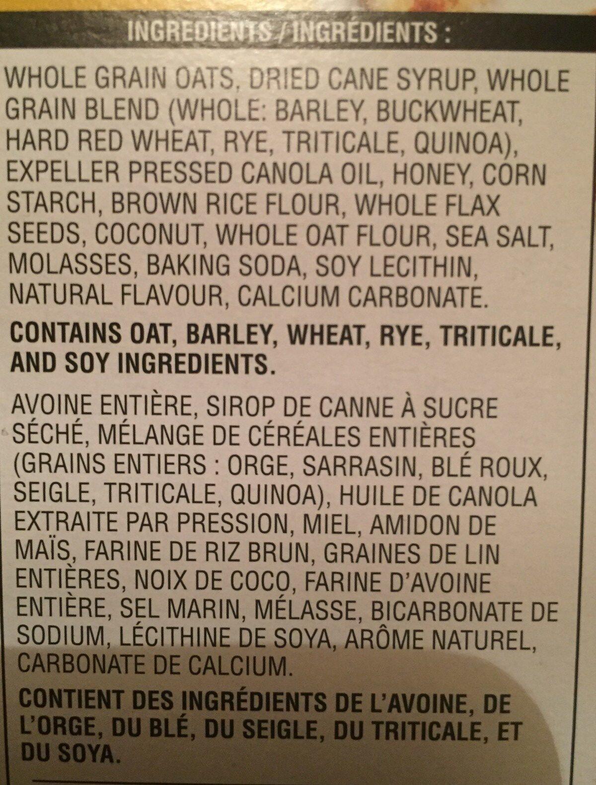 7 grain with quinoa honey oat flax - Ingredients - fr