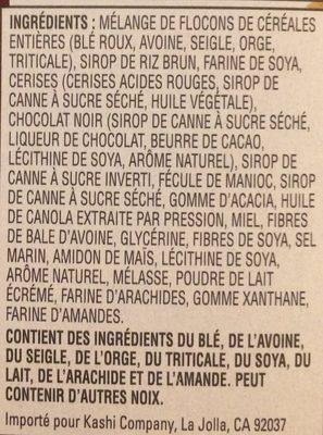 Barres Granola, 175 G, Cerise Et Chocolat Noir - Ingrédients - fr