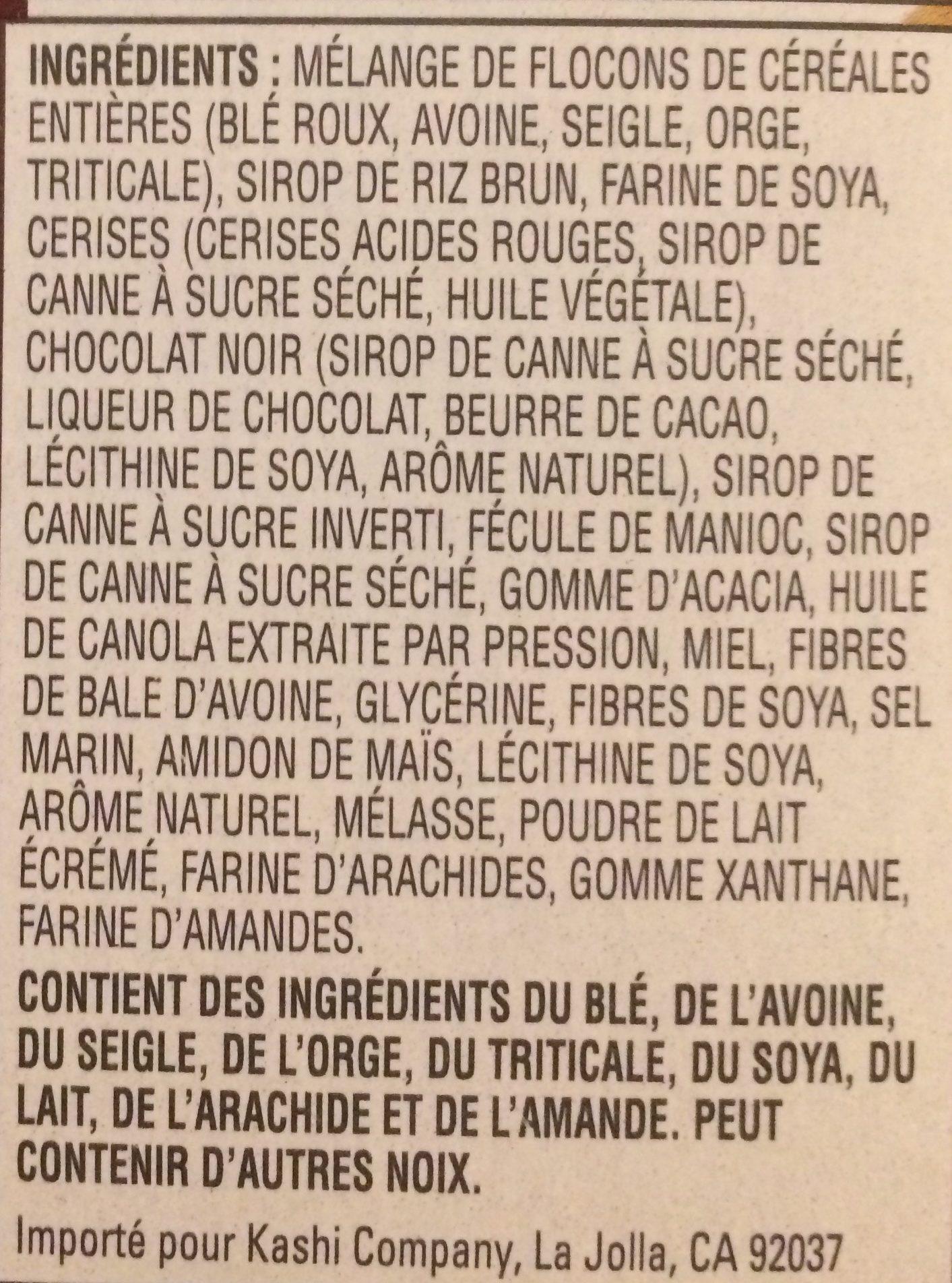 Barres Granola, 175 G, Cerise Et Chocolat Noir - Ingredients - fr
