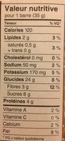Barres Granola, 175 G, Cerise Et Chocolat Noir - Nutrition facts - fr
