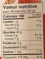 Organic automn wheat - Informations nutritionnelles - fr