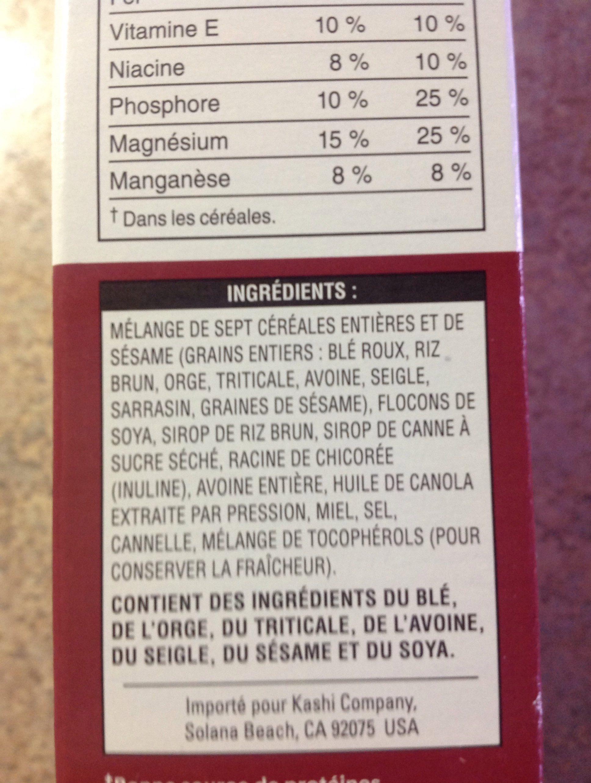 Céréales Go Lean Crunch - Ingrédients - fr