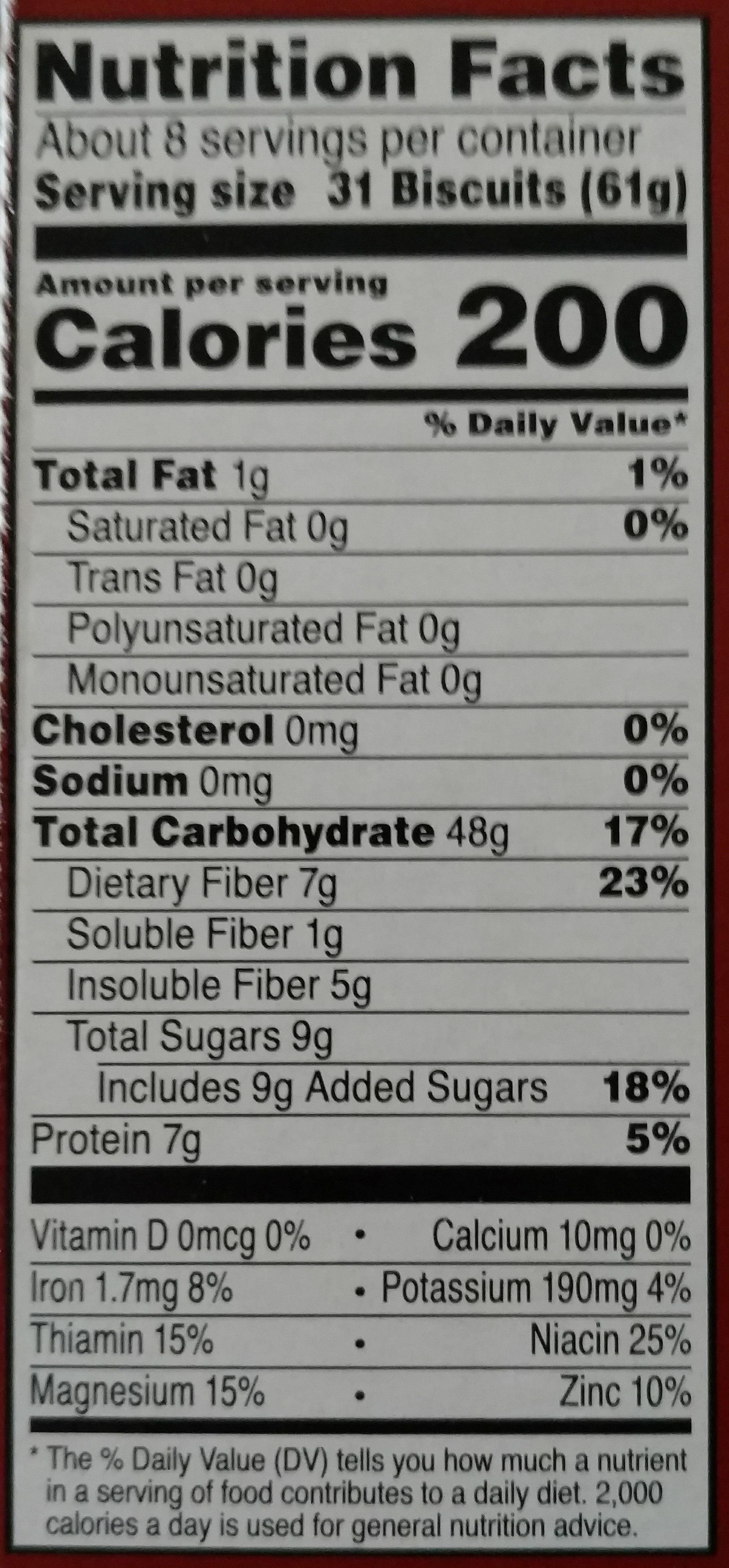 Kashi Organic Cereal Promise Cinnamon Harvest 16.3oz - Nutrition facts - en