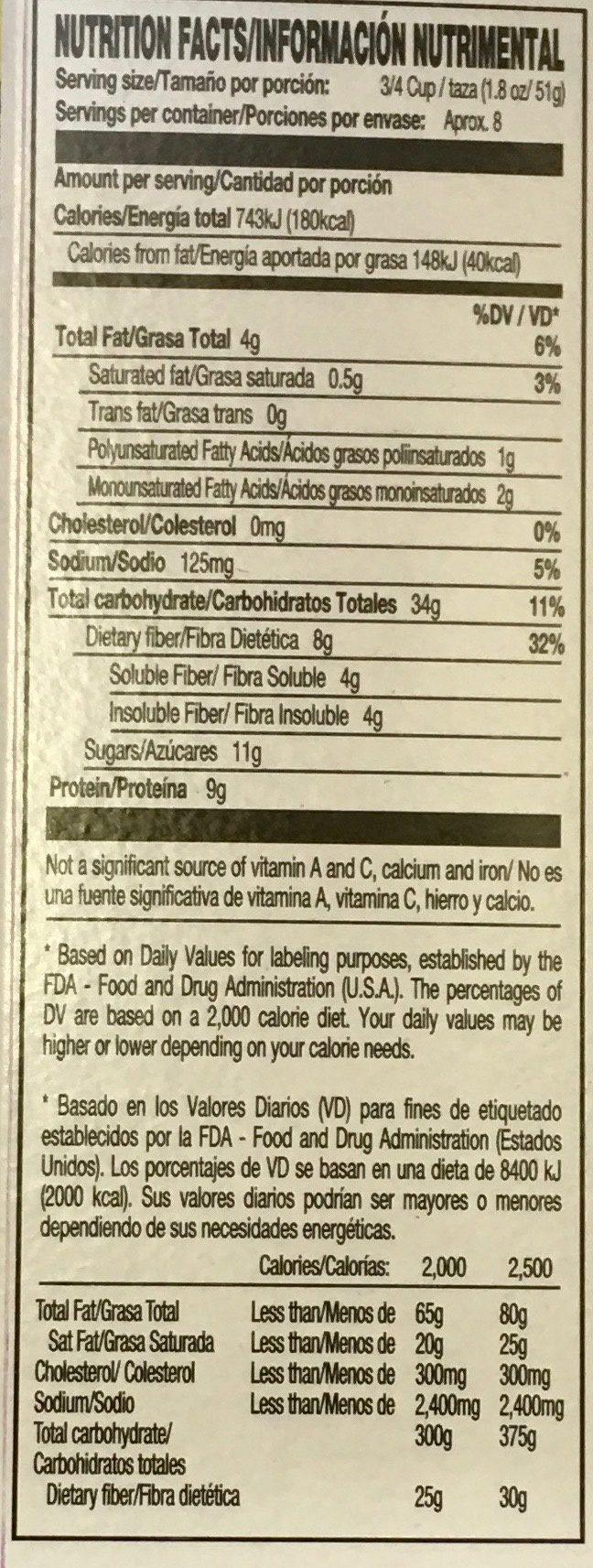 Kashi Golean Cereal Crisp Toasted Berry 14oz - Información nutricional - es