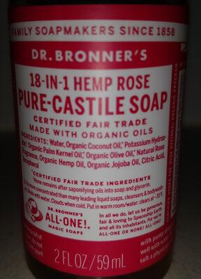 18-in-hemp rose pure-castile soap - Product