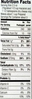 Macaroni N' Cheese - Nutrition facts
