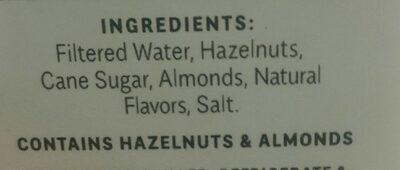Milked Hazelnuts - Ingredients - fr