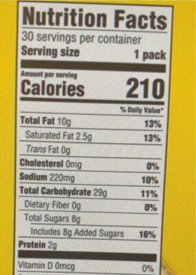 Lorna doone cookies 1x1.5 oz - Nutrition facts - en