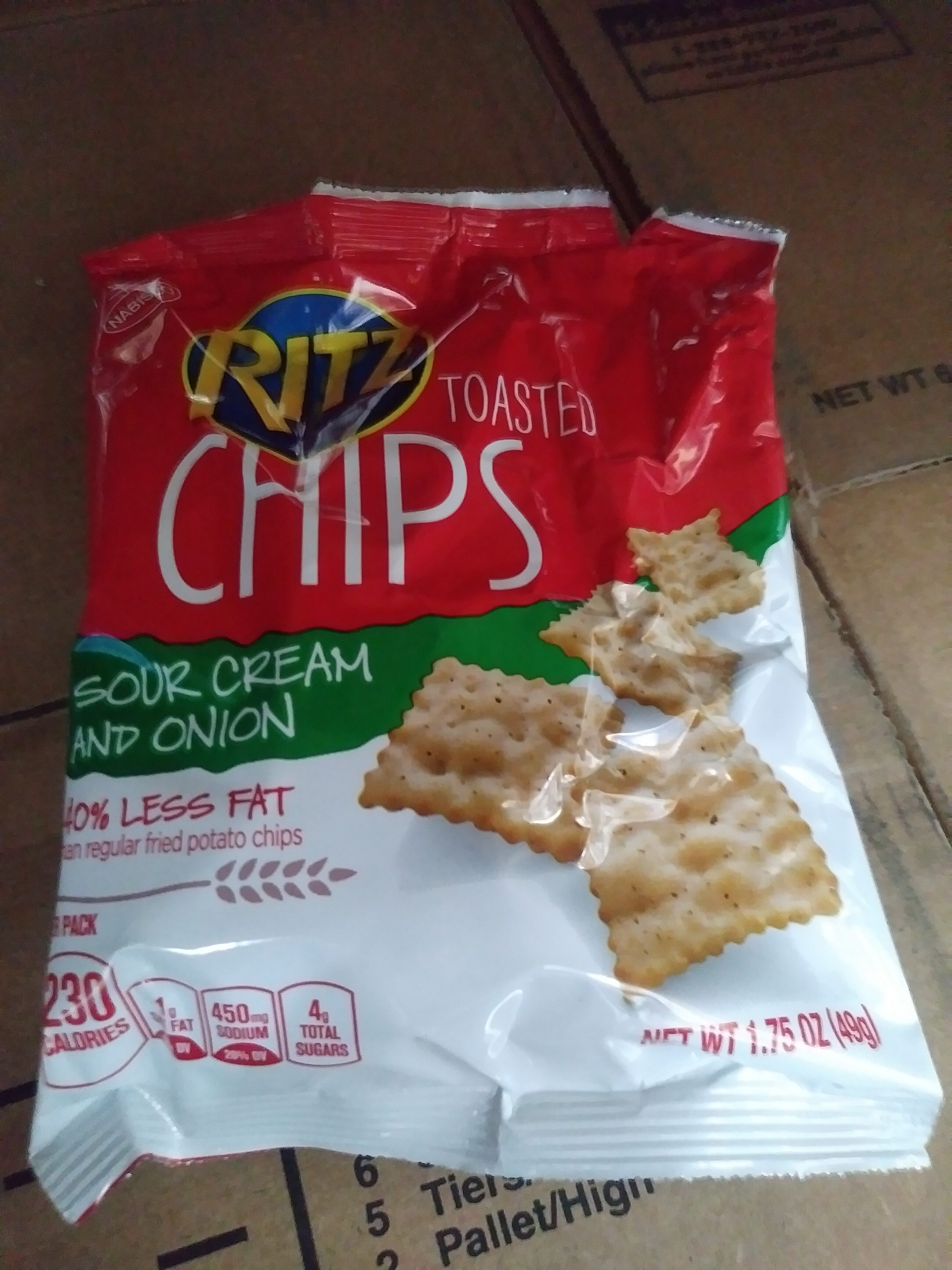Toasted Chips - Sour Cream and Onion Flavor - Product - en